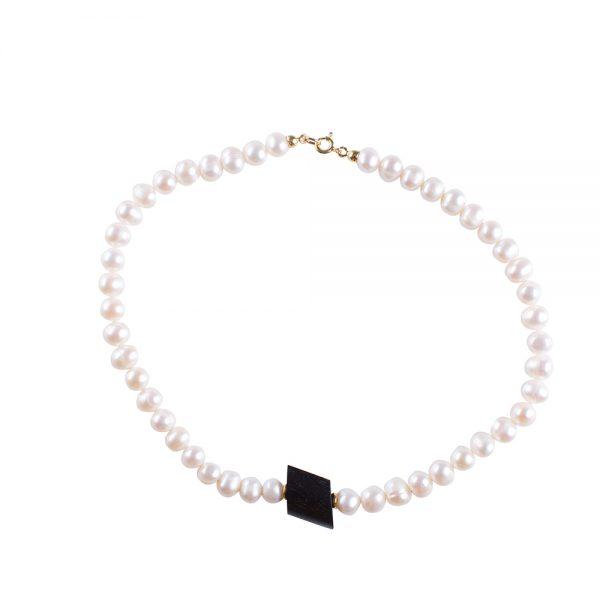 collana perle ebano