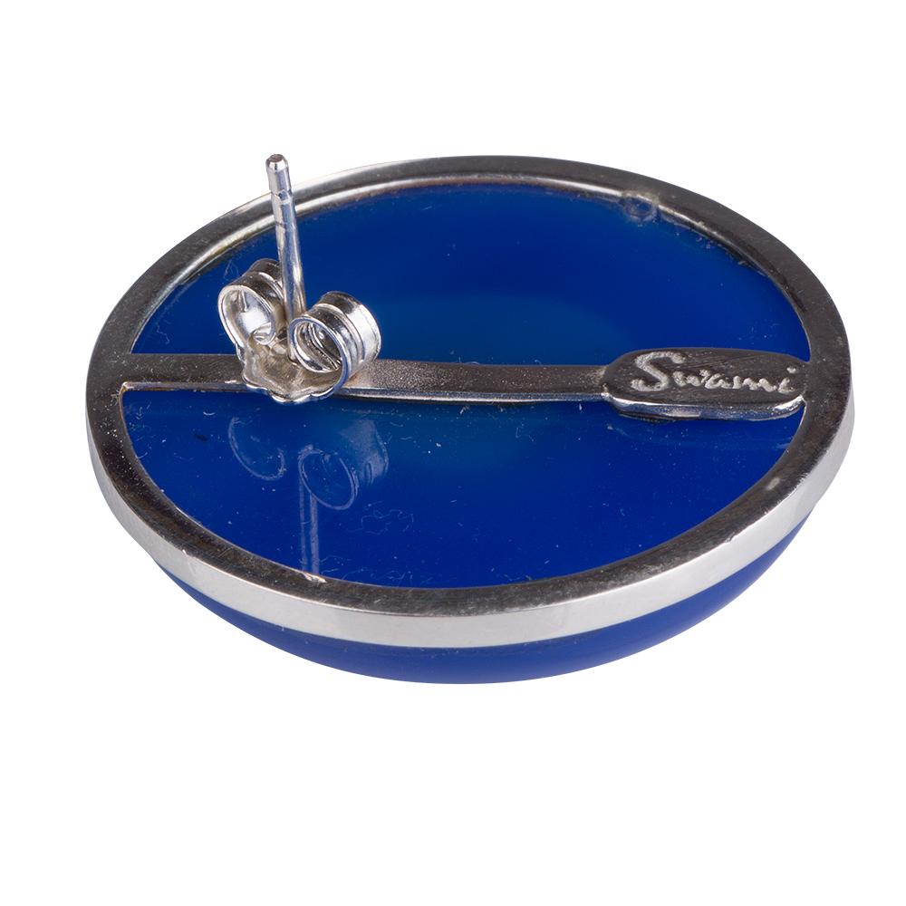 orecchini agata blu lobo gioielli