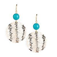 orecchini giada azzurra gioielli