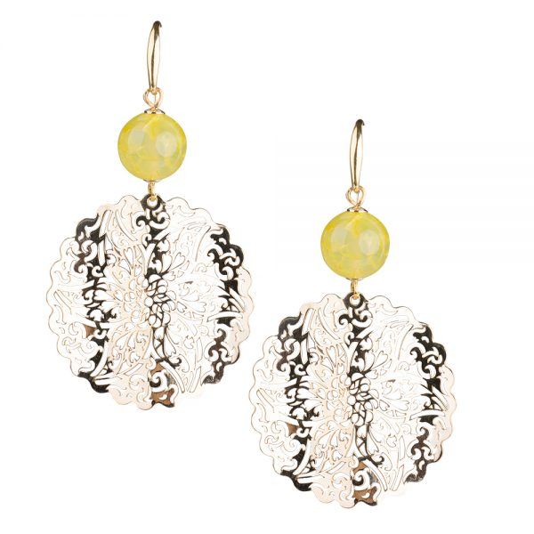 orecchini giada gialla gioielli
