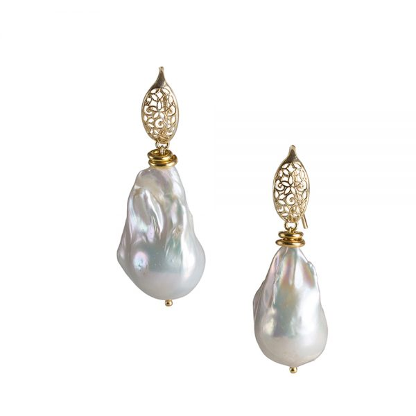 perla barocca orecchini
