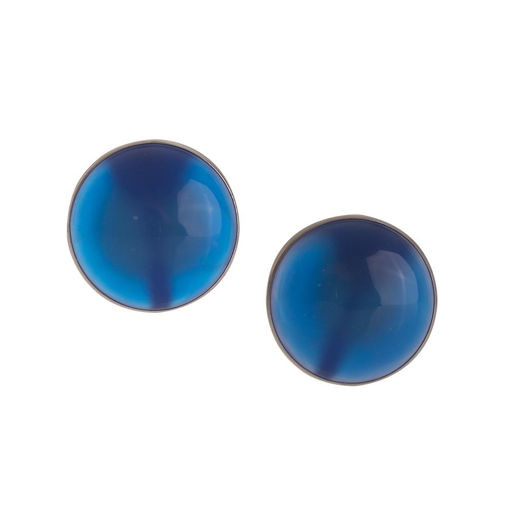 orecchini agata pietra blu
