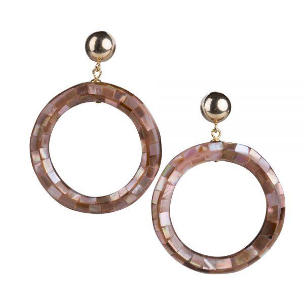 orecchini conchiglia cerchio