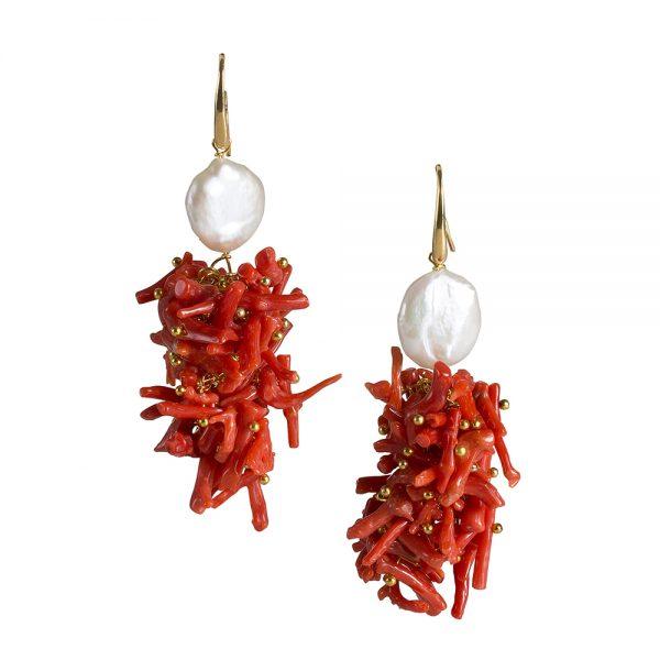 orecchini corallo swami gioielli