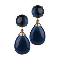 orecchini goccia blu gioielli