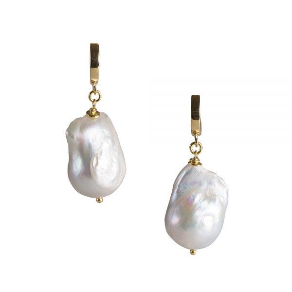 orecchini perla barocca swami