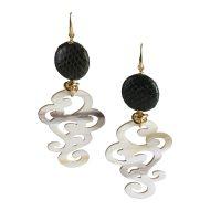 orecchino corno swami gioielli